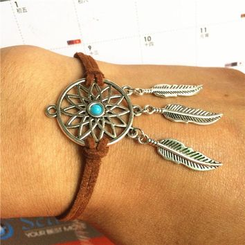 Hot Sale Stylish Awesome Great Deal Shiny New Arrival Gift Accessory Dream Catcher Bohemia Tassels Feather Korean Bracelet [10985316615]
