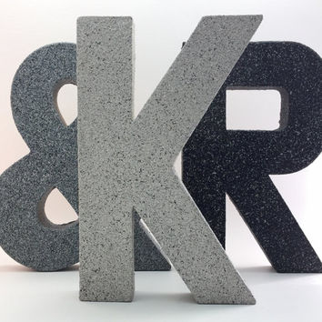 Stone Letters - Faux Stone - Wedding - Rustic - Nursery - Baby Shower - Decorative - Rugged - Vintage - Outdoors