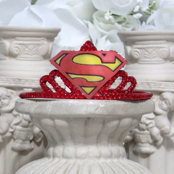 Superman - Super Woman - Superhero Headband - Party Accessories - Bachelorette party Accessories - Comic Con - Cosplay - Marvel Comics
