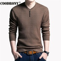 Solid Color Pullover For Men / V-Neck Sweater