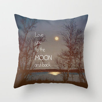 Jade Throw Pillows : To the Moon and Back Throw Pillow by from Society6 My Art