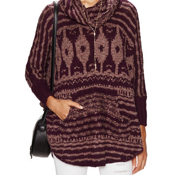 Free People Women's Rosie Lee Poncho - Red -