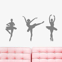 Wall Decal Vinyl Sticker Decals Art Decor Design Ballerina Gymnastics Ballet Dancer Acrobatics Dance Girl Sport Bedroom Living Room (r221)