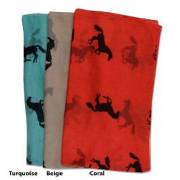 Horses All Over Scarf