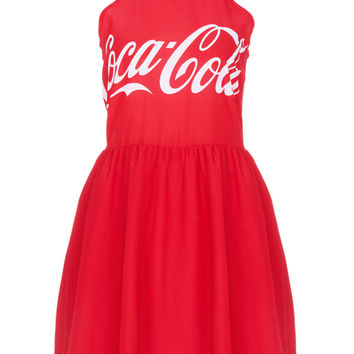 ROMWE | CocaCola Print Red Dress, The Latest Street Fashion
