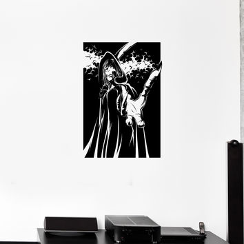 Wall Decal Witch Death Beast Vampire Zombie Horror Vinyl Sticker Unique Gift (ed708)