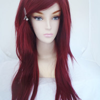 20% OFF SALE / Auburn / Long Straight Layered Wig