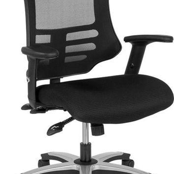 High Back Black Mesh Multifunction Executive Swivel Chair with Molded Foam Seat and Adjustable Arms