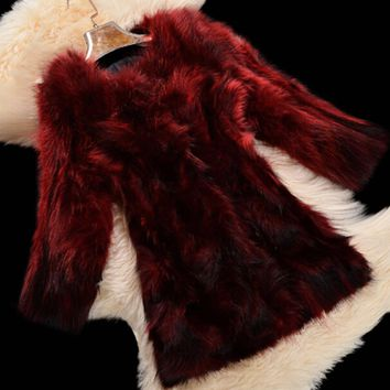 2018 New Arrival Real Fox Fur Coat 100% True Raccoon Fur Long Overcoat Women fashion Fur Jacket DFP725