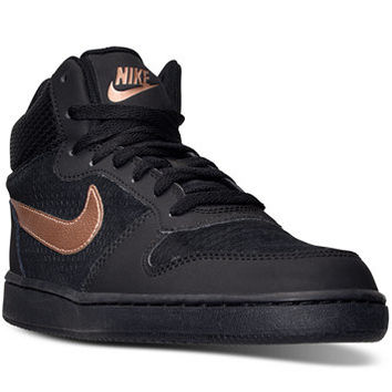 Nike Women's Court Borough Mid Premium Casual Sneakers from Finish Line | macys.com