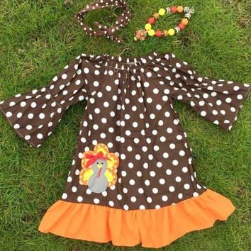 Gobble Gobble Fall Dress for Girls