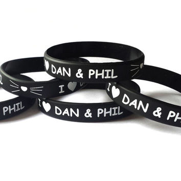 Dan and Phil Wristband,Bracelet,Birthday,Valentine,Christmas,Gift,Love Phan,Easter Gift