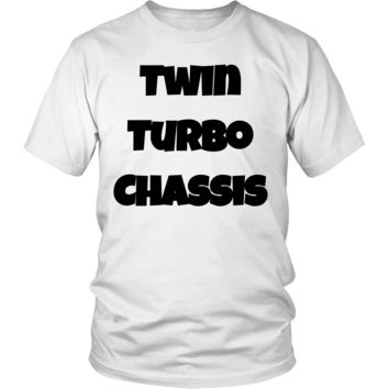 Twin Turbo Chassis - T-Shirt Black Font