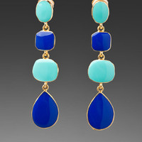 KENNETH JAY LANE Stone Drop Earrings in Turquoise/Cobalt at Revolve Clothing - Free Shipping!