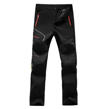 Women Thin Hiking Pants Mountaineering Trousers Breathable Waterproof Wearable Outdoor Sports Quick Dry Pants Camping Ski 1418D
