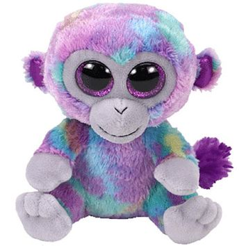 "Pyoopeo Ty Beanie Boos 6"" 15cm Zuri The Monkey Plush Regular Stuffed Animal Collection Soft Doll Toy"