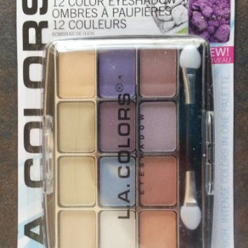 L.A. Colors Expressions, 12 Color Eyeshadow, BEP425 Urban, 0.49 Oz