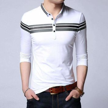 Mens Turn-Down  Collar Cotton Shirt
