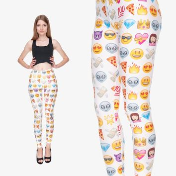 Big Emoji Gradient Aztec Leggings