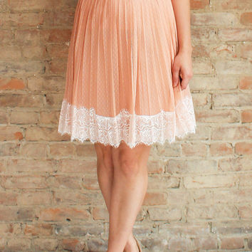 Cameo Tulle Skirt - blush