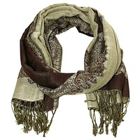 Double Sided Gold and Coffee Pashmina