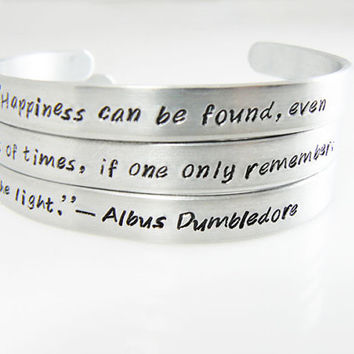 up to 120 characters  Set of 3 Personalized Bracelets, Best Friend, Gift for Friend, BFF, Friendship Gift, Couples, Sisters