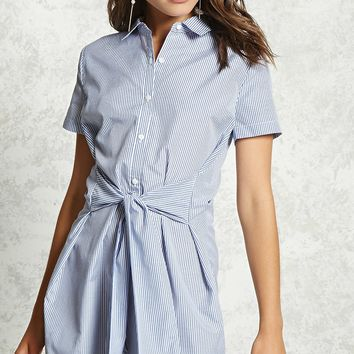 Tie-Waist Shirt Dress
