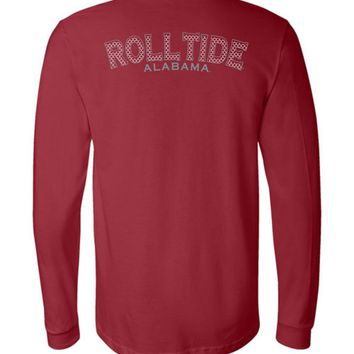 Official NCAA Venley University of Alabama Crimson Tide UA ROLL TIDE! Long Sleeve T-Shirt - 35AL-28