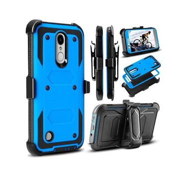 Shock Absorbing Hard Kickstand Phone Case With Belt Clip for G Aristo/MS210/L-V3/K8 2017