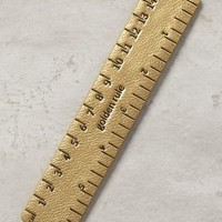 Metallic Idiom Ruler by Anthropologie