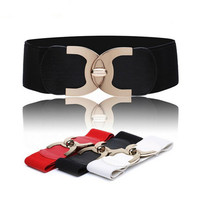 new fashion korean style buckle elastic wide belt  wide cummerbund strap belt waist female  women accessories