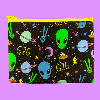 Zipper Pouch | g2g to outer space | alien bag