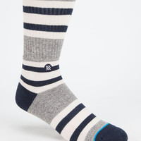 Stance Helena Mens Athletic Crew Socks Gray One Size For Men 25867311501