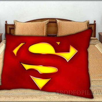 "Superman Classic Logo Rectangle - 20 "" x 30 "" inch,Pillow Case and Pillow Cover."