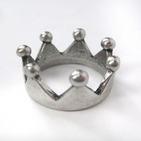 Royal Crown Princess Ring in Silver - Size 7 and 8