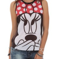 Disney Minnie Mouse Face Girls Tank Top Size : Medium