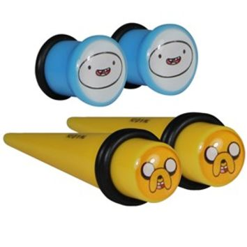 Adventure Time Acrylic Plug and Taper Set - Buy Online at Grindstore.com