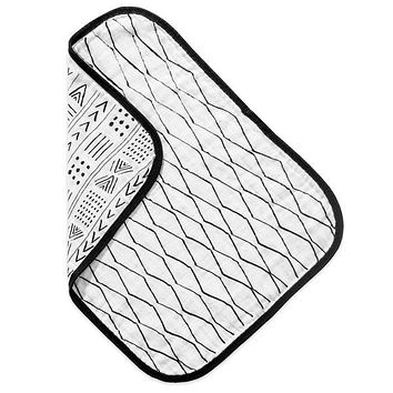 Organic Burp Cloth - Black & White Print