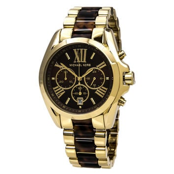Michael Kors MK5696 Women's Bradshaw Chronograph Tortoise Acetate & Steel Bracelet Watch