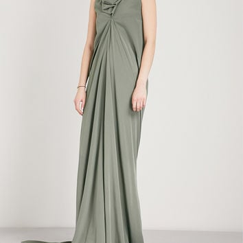 RICK OWENS Mermaid sleeveless silk-crepe de chine column gown