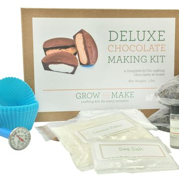 Deluxe DIY Chocolate Making Kit - Learn how to make your own truffles and chocolate cups at home!