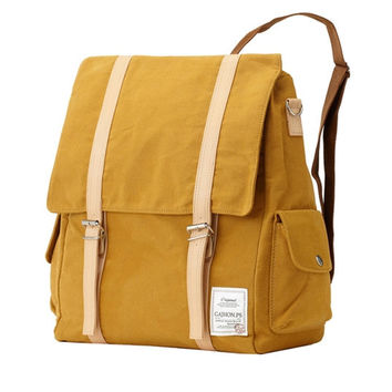 Two pocket multi Backpack (Yellow)