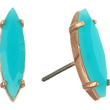 Rebecca Minkoff Sparkler Stud Earrings Rose Gold/Bright Aqua - Zappos.com Free Shipping BOTH Ways