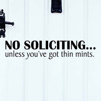 No Soliciting Vinyl Wall Decal Sticker