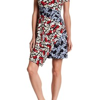 Maggy London | Printed Fractured Pansy Asymmetrical Dress | Nordstrom Rack