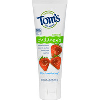 Tom's of Maine Children's Natural Fluoride Toothpaste Silly Strawberry - 4.2 oz - Case of 6