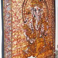 Beautiful Lord Ganesh Tapestry,Ganesh Wall Hanging Poster, Hippy Hippie Tapestry, Ganesha Bedcover, Indian Tapestry, Indian Wall Hanging,