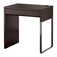 MICKE Desk Black-brown 73x50 cm - IKEA