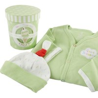 Baby Aspen Sweet Dreamzzz Pint of PJ`s Sleep Time Gift Set, 0-6 Months, Lime $15.64