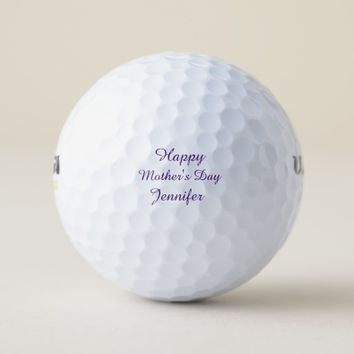 Personalized Golf Balls, Mother's Day, Purple Golf Balls